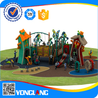 luxury and lastest style nature plastic and galvanized material kid's outdoor playground