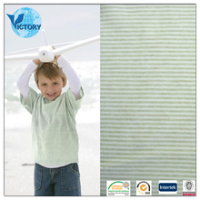 Wholesale Textile 100% Cotton Yarn Dyed Stripe Interlock Knit Fabric for Baby Clothes,Garment, T-shirts