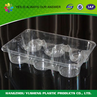 Accept custom order wholesale disposable clear round plastic quail egg tray