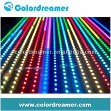 CE/RoHS Flexible DMX RGB LED Strip light DC12V waterproof IP65 8W/meter artnet controllable