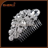 vintage style hair accessory, crystal fancy wedding hair combs