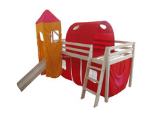 kids loft bed with slide,kids loft bed with tent