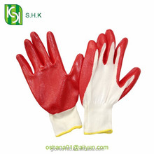 safety protective cheap nitrile gloves / coated working gloves