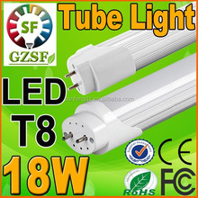 LED T8 fluorescent tube light 18W 4ft , free japanese tube with CE FCC ROHS