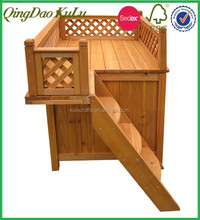 Wood Room water proof Pet House with a View,outdoor wooden dog house