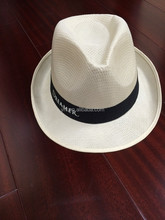 Promotional PP material Straw Hat with Brand Logo Imprint Band