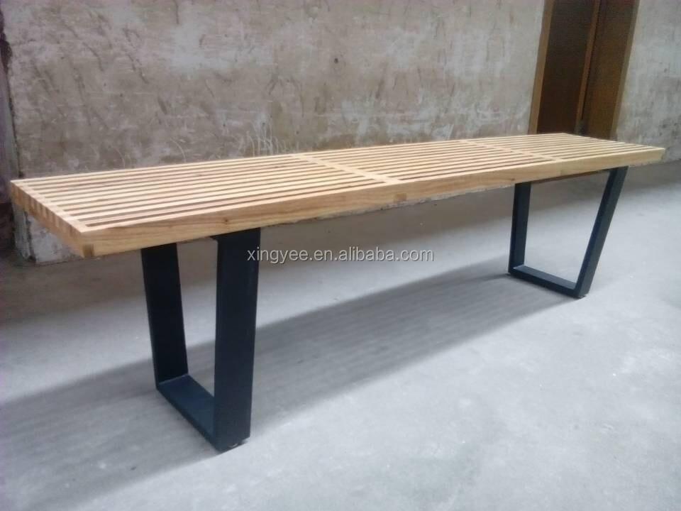 Moderne meubles de maison en bois banc lattes de bois pour for Banc teck douche