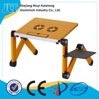 Black Laptop Portable Cooling Table Sofa Desk Stand + Folding Multi Angle Legs