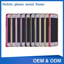 Luxury Crystal metal cell phone case for iphone6