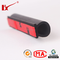car door rubber strip EPDM soft foam adhesive backed rubber strip