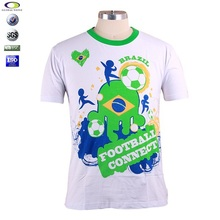 Custom dry fit mens sports t shirt football 2015