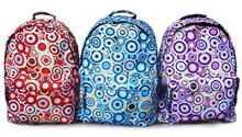 2014 New arrival Fashion dot design compus Polyester Canvas nylon Rucksack / Backpack Travel College Bag
