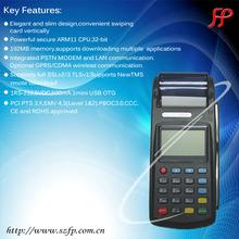 handheld mobile Barcode reader card reader GPS GPRS WIFI CDMA POS machine with printer