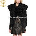 Nueva súper venta productos 2015 ropa de piel de animales,chaleco de piel de oveja genuina para chicas seductoras o mujeres