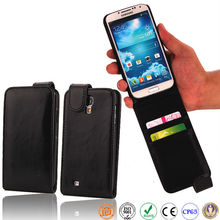flip card slot leather mobile phone case for Samsung Galaxy S4