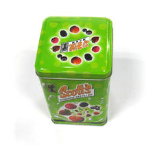 Popular square candy metal box