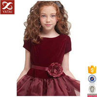 Red Infant Party Christening Dress Imported from China