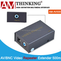 AV RCA Repeater for video and audio supports 480p,720p with IR remote 500m via coaxial cable