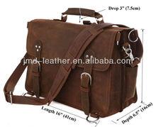 7161R Genuine Crazy Horse Leather Brown Tote Bag Duffle Big Travel Bag