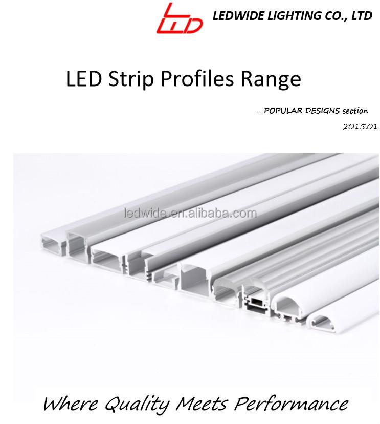 알루미늄 프로파일 유리 LED 에지 조명 주도 스트립-알루미늄 ...