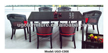 popular patio rattan high top table and chairs series