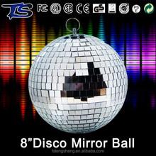Navidad al por menor cristal adornos 8 pulgadas espejo decorativo bola en colores diferentes