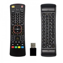 smart voice air mouse double keyboard remote control 2014 hot sales