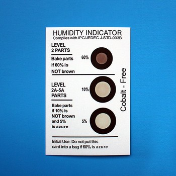 Industrial Electronics Use Humidity Indicator Card