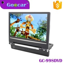 Goocar New style Super slim car monitor with USB SD game function 9 inch headrest car dvd player