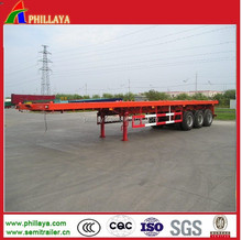 Vietnam Export 20-40ft 2-3Axles Container Flatbed Semi Trailer Trailers Deck Chassis Optional