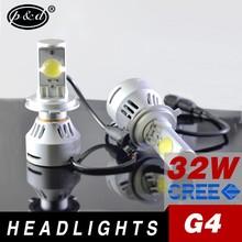 super bright high lumen 32w h4 h13 9004 9007 cre e car led headlight bulbs