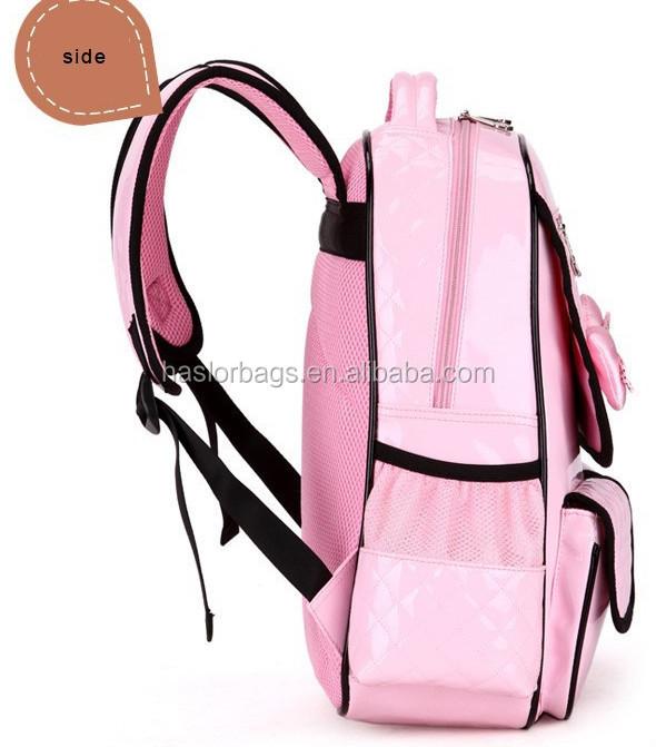 Nouvelle arrivée PU jeunes de la mode sac d'école pour fille
