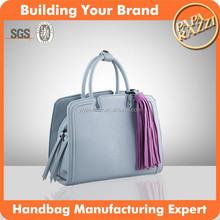 4019- Newest fashion women leather hand bag elegant ladies' high end leather bag
