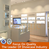 modern design new mdf glass retail jewelry display cases
