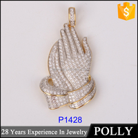 Panyu jewelry factory fine silver chain pendant wholesale
