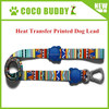 Wholesale Heat Transfer Printed Pet Leash LOGO retractable dog lead