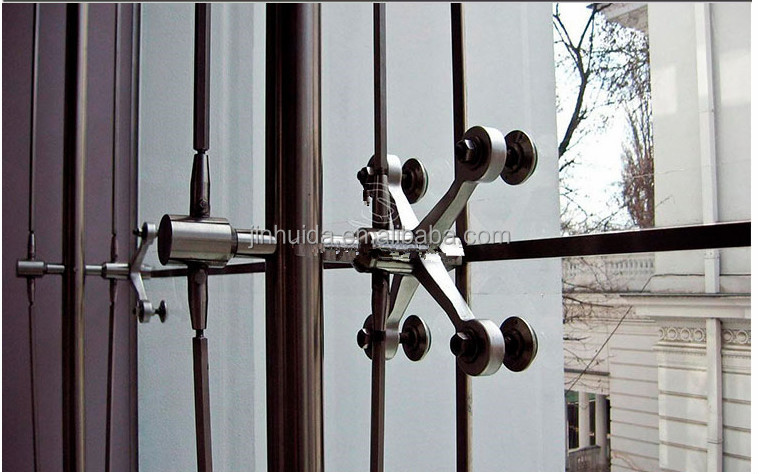 Group Point Fixed Glass Curtain Wall Spider Fitting Point
