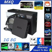 Best MXQ Amlogic S805 XBMC Media Player Quad Core Android 4.4 Smart TV BOX H.265 1080p 1G 8G Media Android Box IPTV
