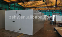 cold storage room with low temperature for beef