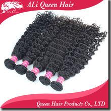 Alibaba productos de pelo de la reina al por mayor de la onda profunda paquetes de pelo virginales brasileños 100g/pc No arrojar