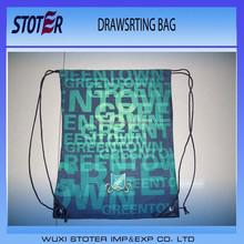 soccer fans drawstring shoe bag with custom printing