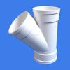 315mm flexible upvc plastic quick y branch fitting water rain waste drain pipe