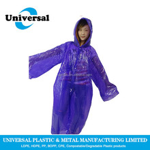 New design purple adult rain coat