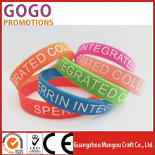 High performance high quality silk screen printing silicone hand bands, Hot-sale high-end custom luminous silicone hand band