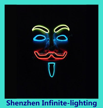 Blue Green or Red light party Wholesale Led glasses party masks with lights/Different Color Beautiful party masks with lights