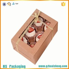 Brown Kraft Cupcake Box, Paper Packaging Box, Luxury Gift Paper Box