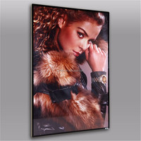 12.6mm thickness flat magnetic aluminum poster frame new style poster frame