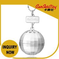 (CS-27856) Auto Accessory CarSetCity Fashionable Luxury Sandalwood Silver DiscoBall 5g Hanging Car Perfum
