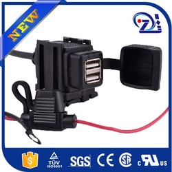 waterproof 12V Motorcycle Cell Phone USB Charger Power Adapter Socket F Harley