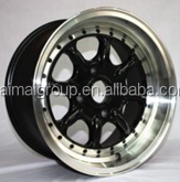 2014 hot sales three pieces alloy wheel with black machine face